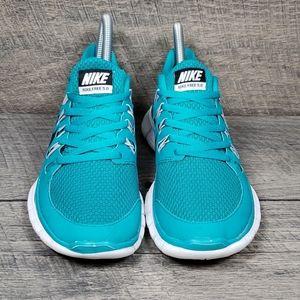 Nike Free 5.0 Nike+ Teal Women's Size 6 Running